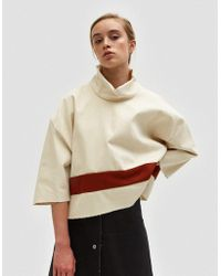 Ashley Rowe Red And White Turtleneck