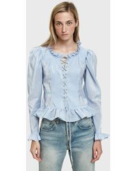 Maryam Nassir Zadeh - Faustina Lace-up Top - Lyst