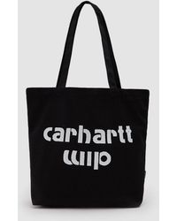 Carhartt WIP - Small Bronc Tote In Black / White - Lyst