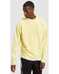 Obey - Fade Pigment Crew In Yellow - Lyst