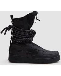 Nike - Sf Air Force 1 Hi Boot In Black/black Dark Grey - Lyst