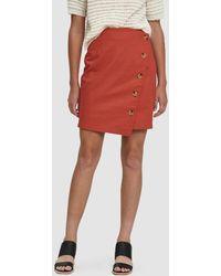 Farrow - Fisher Buttoned Linen Skirt - Lyst