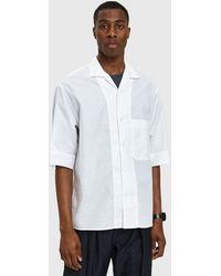 Lemaire - Convertible Collar Shirt In White - Lyst