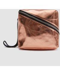 Proenza Schouler - Metallic Leather Mini Cube In Rose Gold - Lyst