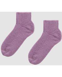 Baserange - Buckle Ankle Socks In Panj Purple - Lyst