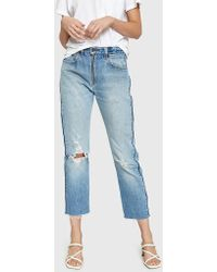 RE/DONE - High Rise Relaxed Zip Crop - Lyst