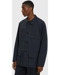 Lemaire - Three Pocket Jacket In Midnight Blue - Lyst