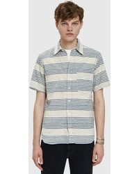 Rogue Territory - Jumper S/s Shirt In Ocean Stripe - Lyst