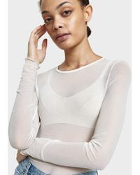Which We Want - Mesh Bodysuit In White - Lyst
