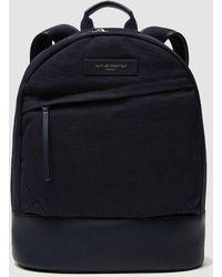 Want Les Essentiels De La Vie - Kastrup Leather And Canvas Backpack - Lyst