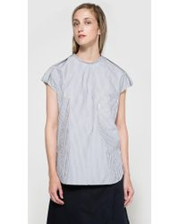 Frankie - Striped Shirting Tee - Lyst