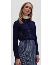 Marni - Longsleeve Foulard Shirt In Ink - Lyst