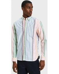 Beams Plus - Button Down Oxford Wide Candy Stripe In Multi - Lyst