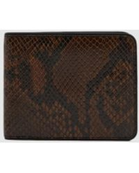 Dries Van Noten - Bifold Snake-effect Wallet - Lyst