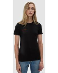 Ganni - Linfield Lyocell T-shirt With Embroidery - Lyst