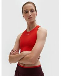 adidas By Stella McCartney - The Clmch Bra In Core Red - Lyst