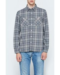 Beams Plus - Work Flannel Check Long Sleeve Shirt - Lyst