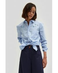 Bruta - Flower Embroidery W/ Chest Pocket Shirt - Lyst