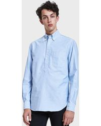 Gitman Brothers Vintage - Blue Oxford L/s Popover - Lyst