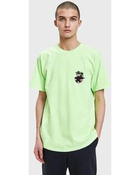 Stussy - Surfman Dot Pig. Dyed Tee In Green - Lyst