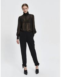 Just Female - Kamilla Tie Cuff Trouser - Lyst