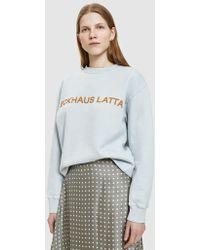 Eckhaus Latta - Sweatshirt In Pearl Blue - Lyst