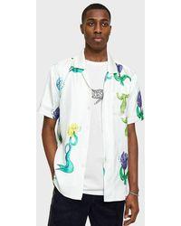 Soulland - Zev Silk Shirt In White Multi - Lyst