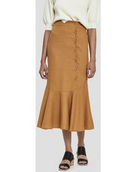 Farrow - Mari Side Button Skirt - Lyst