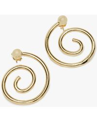 Young Frankk - Gold Spiral Earrings - Lyst