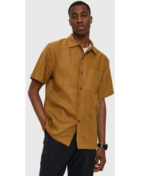 Margaret Howell - 50's Shirt In Tobacco - Lyst
