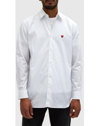 Play Comme des Garçons | Play Red Heart Shirt In White | Lyst