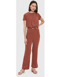 Farrow - Vina Ribbed Jumpsuit In Rust - Lyst