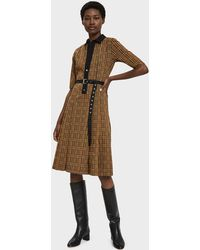 Hope - Cat Pleated Check Dress - Lyst