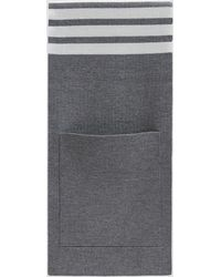 Thom Browne - Milano Stitch Striped Pocket Scarf - Lyst