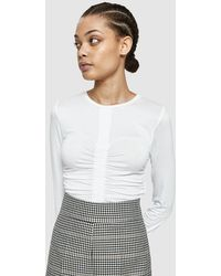Which We Want - Luna Top In Off White - Lyst