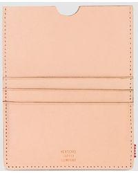 Herschel Supply Co. - Eugene Passport Holder In Natural Leather - Lyst