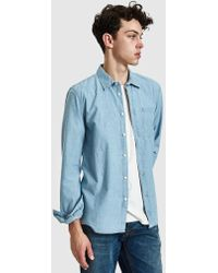 Nudie Jeans - Henry Chambray Shirt - Lyst