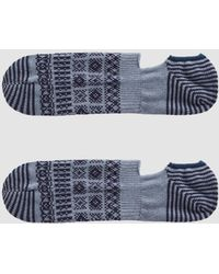 Chup - Cover Three No-show Sock In Slate Blue - Lyst