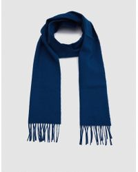 Norse Projects - Norse X Johnstons Lambswool Scarf In Sodalite - Lyst