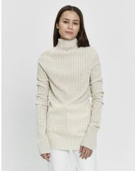 Jil Sander - Long Sleeve Gingham T-shirt - Lyst