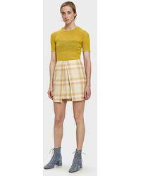 AALTO - Check Mini Skirt - Lyst