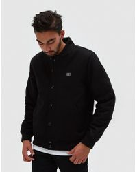 Obey - Soto Varsity Jacket In Black - Lyst