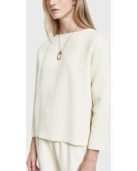 Black Crane - Pullover In Cream - Lyst