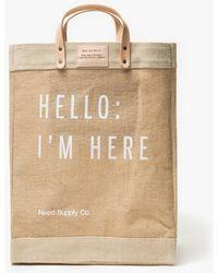 Apolis - Hello: I'm Here Market Bag - Lyst