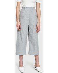 Kaarem - Gripeweed Open Pleat Cropped Pocket Pant - Lyst