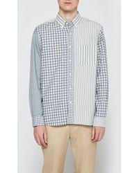 Beams Plus - Indigo Crazy Long Sleeve Shirt - Lyst