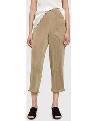 Lauren Manoogian | Accordion Trousers In Khaki | Lyst