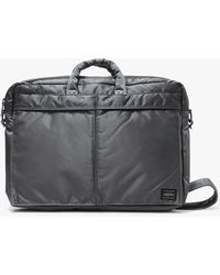 Porter - Tanker 2way Brief Case S In Silver Grey - Lyst