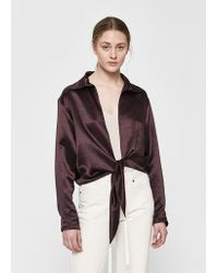 Collina Strada - Mary-ann Tie-front Top - Lyst