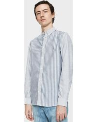 Norse Projects - Anton Oxford Shirt In Dark Navy Multi Stripe - Lyst